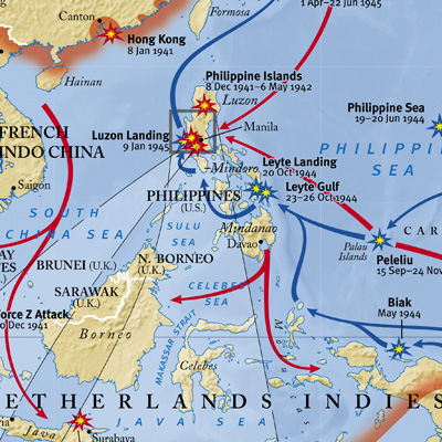 International mapping world war ii pacific theater 40 x 30 inches 4900 publicscrutiny Image collections