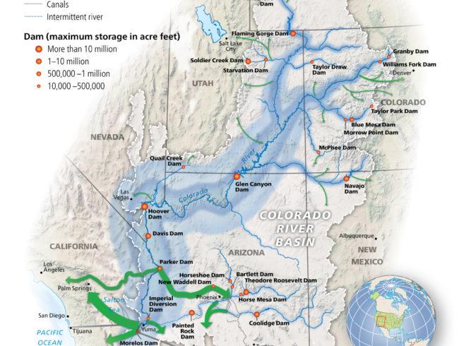 International Mapping The Colorado River - Colorado river world map