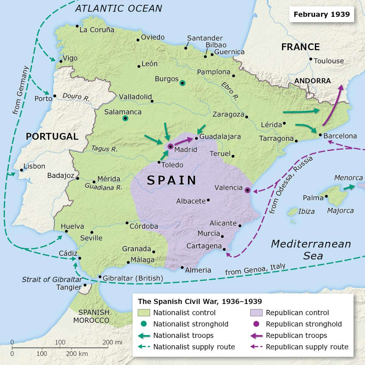 The Spanish Civil War, 1936-1939 - International Mapping